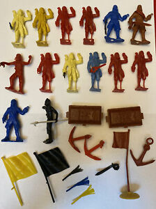 Vintage MPC Lot of PIRATE FIGURES and Accessories