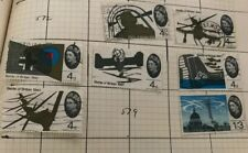 Gb 1965 Commemorative Battle of Britain Set of Stamps