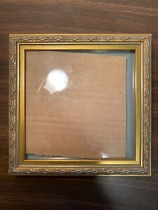 "Picture/Photo Frame 5"" x 5"" Antique Gold Diamond Design Square"
