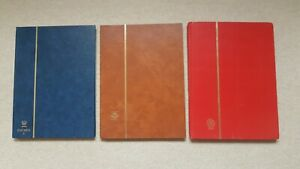 3 Stamp stock books (16 pages)