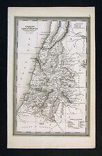 1850 Starling Map - Canaan of Joshua & Judges  Israel Moriah Old Testament Bible