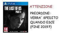 The Last of Us Part II Parte 2 PS4 Playstation 4 Gioco Italiano ITA - Preordine