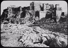 Glass Magic Lantern Slide THE ACROPOLIS FROM MARS HILL ATHENS C1890 PHOTO GREECE
