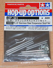 Tamiya 53301 TL01 Stainless Steel Suspension Shaft Set (FF02/WR-02/M03/M04) NIP