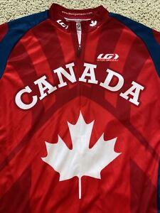 Louis Garneau - Men's L Cycling Bike Jersey Shirt - Canada Maple Leaf