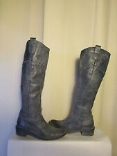 riding boots MELINE leather old fashioned blue 37