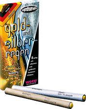 Gold- und Silberregen Fontäne von WECO 1 Pakung inhalt 8 st.