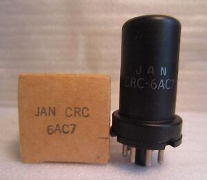 RCA JAN CRC 6AC7 Metal Electronic Vacuum Radiotron Tube In Box NOS Vintage