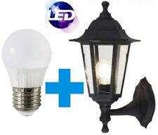 Hispec Outdoor Full Lantern LED Wall 5W Garden Mounted Daylight Porch Light IP44