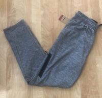 New Reebok Training Pants Mens Gray Slim Fit Athletic Medium