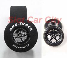 "Pro Track ""Star Black"" 1 3/16"" x .700"" Matching Rr/Ft 1/24 Slot Car Drag Tires"