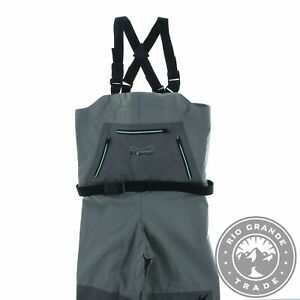 NEW FROGG TOGGS 2751126-LG Women's Hellbender Chest Wader in Slate Gray - L