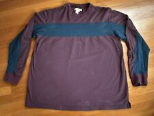 The Territory Ahead Men's Crewneck Pullover Shirt Xl 100% Cotton Red Green