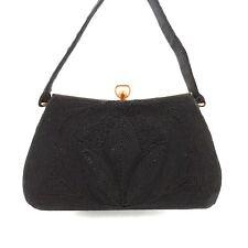Vintage CORDE Black Box Evening Bag Purse Tote