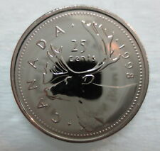 1998 CANADA 25 CENTS PROOF-LIKE QUARTER COIN
