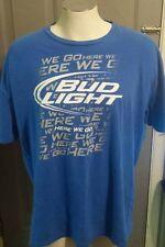 """""""Bud Light - Here We Go"""" Blue T-Shirt - Size XXLarge"""