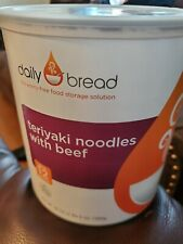 Daily Bread MRE survival food Teriyaki noodles with beef 12 SERVING Can