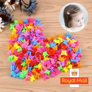 20/50X Cute Butterfly Hair Clips Mixed Color Mini Hairpins Hair Claws For Girls