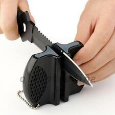 Mini Ceramic Rod Tungsten Steel Pocket Knife Sharpener Camping Home Kit