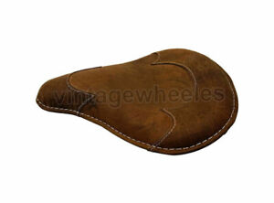 Leather Front Solo Rusty Brown Seat Royal Enfield Electra 350