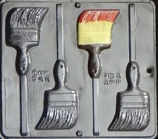 Paint Brush Lollipop Chocolate Candy Mold  244 NEW