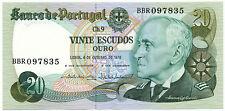 PORTUGAL - 20 Escudos 4. 10. 1978. P176b, UNC. (P006)
