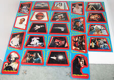 MINT 1977 BUCK ROGERS 22 Stickers cards set Sci-fi Trade Gum from packs