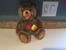 "11"" HERMANN Original Plush TEDDY BEAR-Jointed w/Red Plastic Tag Ex Condition"