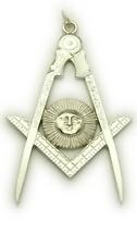 Masonic Senior Deacon Collar Jewel in Silver Tone