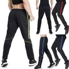 Mens Sweatpants Track Running Pants Zipper Pockets Active Jogger Sport Trousers