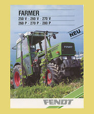 Fendt Farmer 250 V 260 V  270 V  260 P  270 P  280 P Schlepper Original 1987