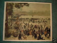 "Vintage Renoir ""PATINAGE A LONGCHAMPS"" Art Print"