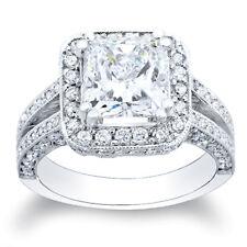 4.38 Ct. EGL Certified Cushion Cut Diamond Ring J/VS2