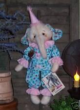 "Primitive Circus Clown Elephant 16"" Doll Paper Pattern #569"