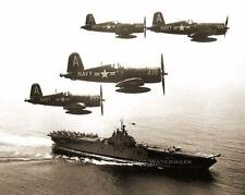NAVY F4U CORSAIR FIGHTERS WWII PHOTO OVER SOUTH PACIFIC WW2 1943 #21086