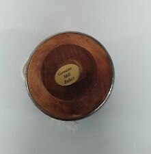 Vintage Wooden Yoyo ornament made from genuine industrial mill relics working