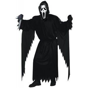 Scream Costume Adult Ghostface Scary Ghost Face Fun World Halloween Fancy Dress