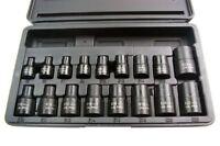 """US PRO Tools 17pc 3/8"""" & 1/2""""Dr Impact E-Torx Sockets Set E5-E24 NEW 1357 BERGEN"""