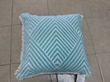 Frontgate Outdoor Patio Carved Diamond Aruba Chair Sofa Throw Fringe Pillow New