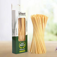 100 PCS Disposable Straws Eco-friendly Drinking Wheat Straw for Coffee Welcome