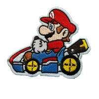 Mario Kart inspired Character Super Mario Iron On Patch Sew on Transfer Badge