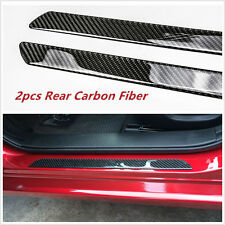 2pcs Car Auto Door Scuff Plate Sill Cover Panel Step Protector Real Carbon Fiber