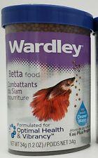 Lot of 4 Wardley Betta Food 1.2 Oz Formulated For Optimal Health & Vibrancy