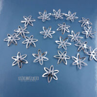 20 PC Solid Sterling Silver Star Floral Bead Cap Spacer [8mm or 10mm]