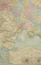 1891 Ancien Carte South West Russie Moscou Odessa Poltava