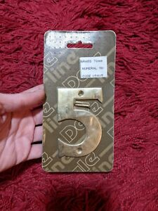 Large Solid Brass Door Numbers 8 cm Polished House Flat Apartment
