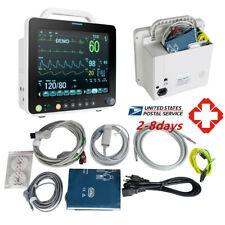 12 Medical Portable Icu Ccu 6 Para Patient Monitor Vital Sign Cardiac System Ce