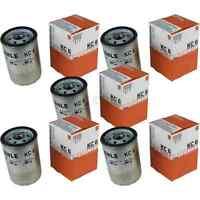 5x MAHLE / KNECHT Kraftstofffilter KC 6 Fuel Filter