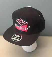 Umbro Vintage Style Urban Outfitters Nylon Strapback Cap, Black, One Size