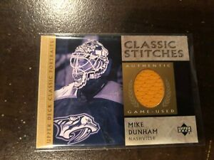 2002-03 Upper Deck Classic Stitches Jersey MIKE DUNHAM #C-MD